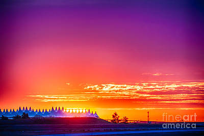 Photograph - Sunrise at Denver International Airport by Scotts Scapes