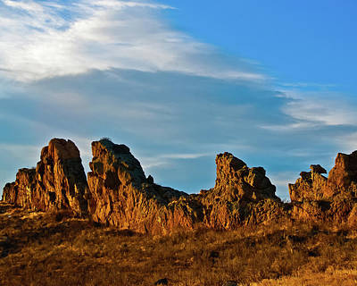 Photograph - Sunrise At Devil's Backbone by Harry Strharsky
