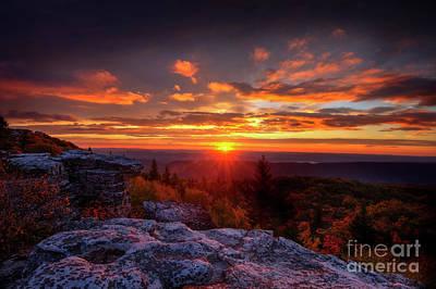 Photograph - Sunrise At Dolly Sods At Bear Rocks by Dan Friend