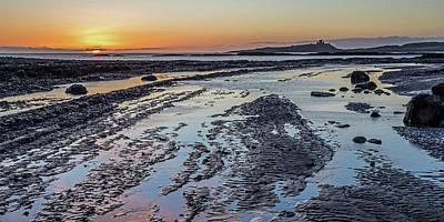 Photograph - Sunrise At Dunstanburgh Castle by David Pringle