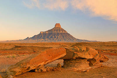 Photograph - Sunrise At Factory Butte. by Johnny Adolphson