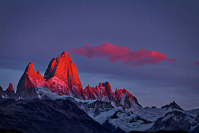 Photograph - Sunrise At Fitz Roy #3 - Patagonia by Stuart Litoff