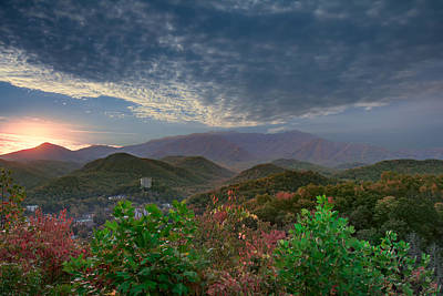 Photograph - Sunrise At Gatlinburg Tn by Mary Almond