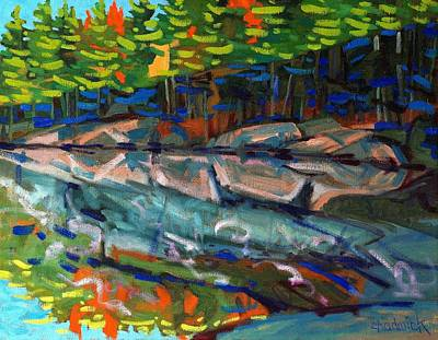 Sunrise At George Lake Art Print