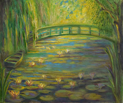 Impressionism Painting - Sunrise At Giverny by Verlaine Crawford