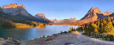 Photograph - Sunrise At Glacier Sun Point by Adam Jewell