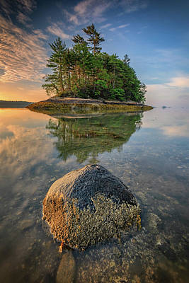 Photograph - Sunrise At Googins Island by Rick Berk