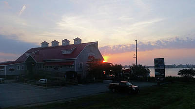 Photograph - Sunrise At Hooper's Crab House by Robert Banach
