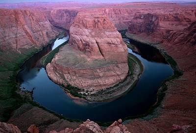 Photograph - Sunrise At Horseshoe Bend In Arizona by Jetson Nguyen