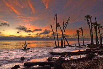 Photograph - Sunrise At Huntington Beach by Ken Barrett