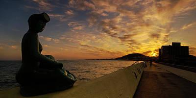 Sunrise At Jeju Island Art Print by Ng Hock How