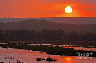 Photograph - Sunrise At Kruger National Park, South Africa by Wibke W
