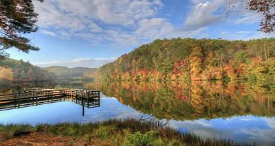 Digital Art - Sunrise At Lake Cherokee by Lori Deiter