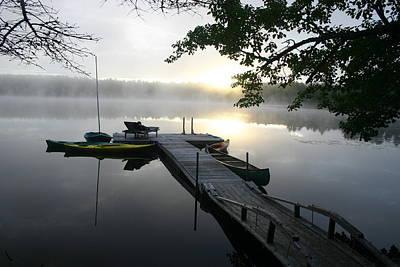 Sunrise At Lake Art Print by Dennis Curry