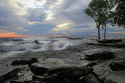 Photograph - Sunrise At Lake Erie by Angela Murdock