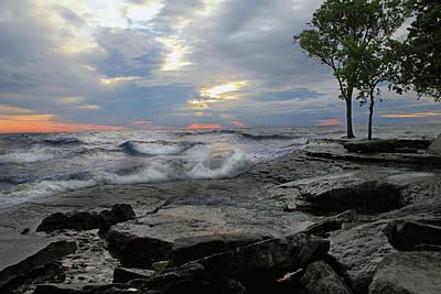 Photograph - Sunrise At Lake Erie by Angela Murdock