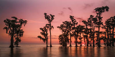 Photograph - Sunrise At Lake Maurepas by Andy Crawford