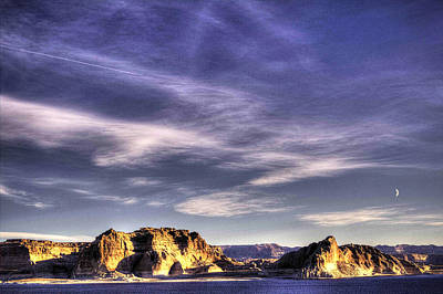 Photograph - Sunrise At Lake Powell Above The Glen Canyon Dam by Roger Passman