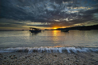 Sunrise At Lombok Art Print