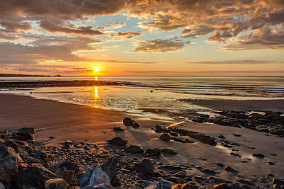 Sunrise At Long Sands Art Print