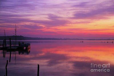 Photograph - Sunrise At Manasquan Reservoir by Roger Becker