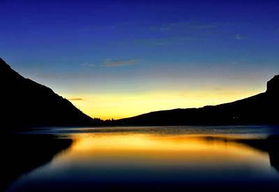 Photograph - Sunrise At Many Glacier Lodge by Matthew Winn