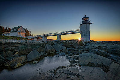 Photograph - Sunrise At Marshall Point by Rick Berk