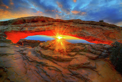 Photograph - Sunrise At Mesa Arch by Greg Norrell