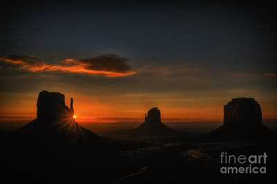 Photograph - Sunrise At Monument Valley by Priscilla Burgers