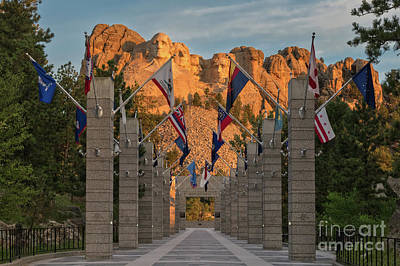 Photograph - Sunrise At Mount Rushmore Promenade by Jerry Fornarotto