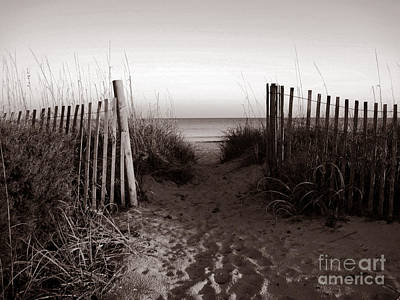 Sunrise At Myrtle Beach Sc Art Print by Susanne Van Hulst