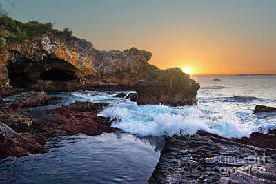 Photograph - Sunrise At Mystery Bay by Stuart Row