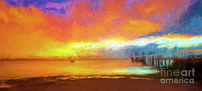 Salamanders Digital Art - Sunrise At Salamander Bay by Avalon Fine Art Photography