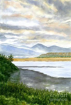 Oregon Coast Painting - Sunrise At Netarts Bay by Sharon Freeman