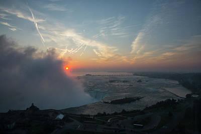 Photograph - Sunrise At Niagara Falls Canada by Jack Nevitt