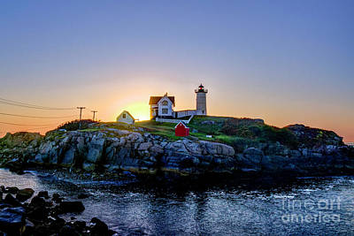 Photograph - Sunrise At Nubble Light by Jean Hutchison