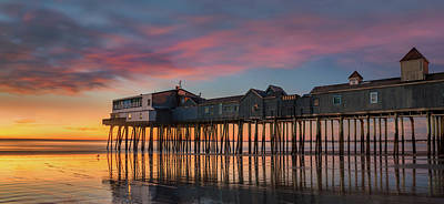 Photograph - Sunrise At Old Orchard Beach by Darylann Leonard Photography