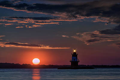Oyster Photograph - Sunrise At Orient Point by Rick Berk
