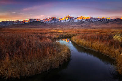 Owens River Photograph - Sunrise At Owens River by Frank Delargy