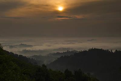 Sunrise At Panorama Hill Art Print by Ng Hock How