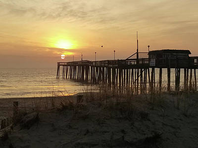 Photograph - Sunrise At Pier's End by Robert Banach