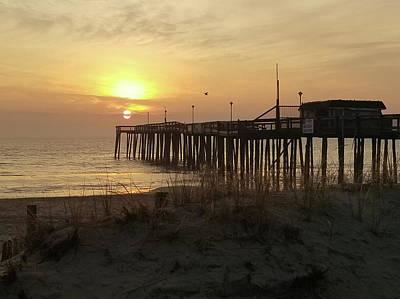 Photograph - Sunrise At Pier's End by Robert Banach