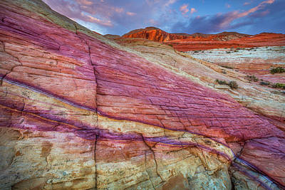 Print featuring the photograph Sunrise At Rainbow Rock by Darren White