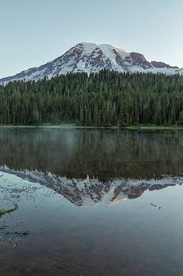 Photograph - Sunrise At Reflection Lake - Mount Rainier Vertical by Belinda Greb