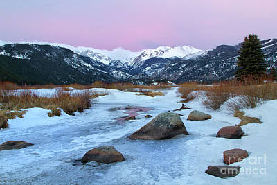 Sunrise At Rocky Mountain National Park Art Print