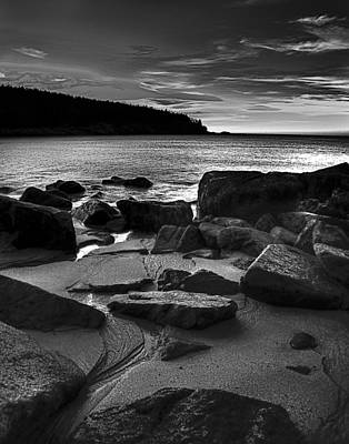 Sunrise At Sand Beach Acadia Np Art Print