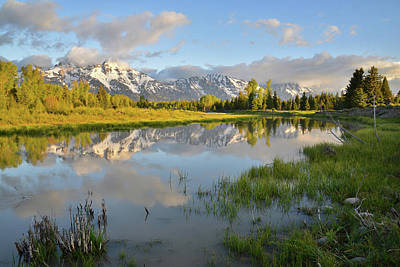 Photograph - Sunrise At Schwabacher Landing by Ray Mathis