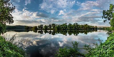 Photograph - Sunrise At Scottsville Panorama 2a 12x24 by Doug Berry