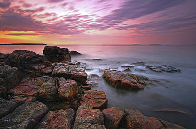 Photograph - Sunrise At Seawall Maine Acadia National Park by Juergen Roth