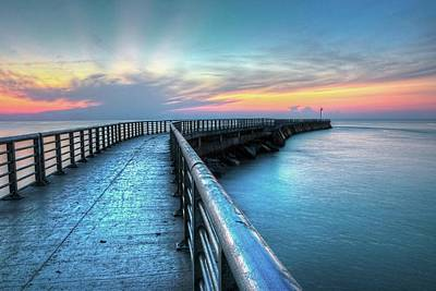 Photograph - Sunrise At Sebastian Inlet by Carol Montoya
